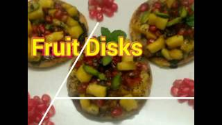 Healthy n taste yummyyy baccho bado ko Kuch new n innovativ Dishes aishe banakar dey Healthy n taste fruit Disks 👌👌👌👌👌😘😍😍😍👍👍