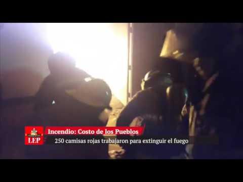 Incendio en almacén del Centro Comercial Los Pueblos