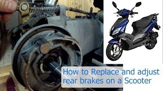8. How to replace and adjust the rear brakes on a 150 or 50 cc GY6 Chinese scooter