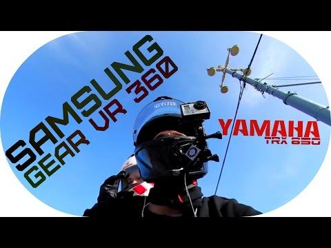 Samsung Gear 360 DGR Yamaha TRX 850 Run