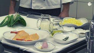 Gebratene Maishähnchenbrust auf Kartoffel-Mangold-Ragout