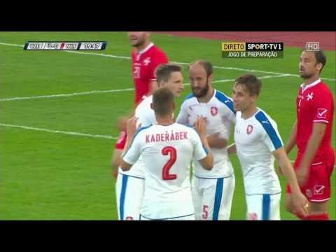 ไฮไลท์ฟุตบอล Czech Republic 6 -0 Malta 27/5/2559