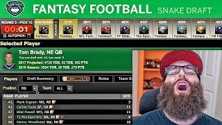 ESPN fantasy football draft 2017 for IG Experts League. Go here for each team's draft results: ...