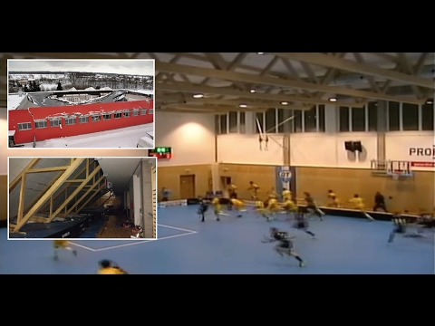 sports hall collapses under snow load
