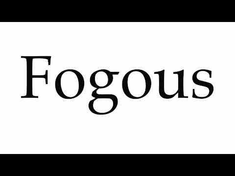 How to Pronounce Fogous