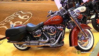7. 2018 Harley Davidson Softail Deluxe Customized - Walkaround - 2018 Montreal Motorcycle Show
