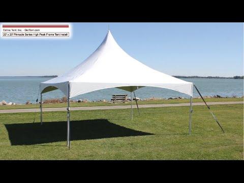 20'x20' Pinnacle Series High Peak Frame Tent Installation Procedure