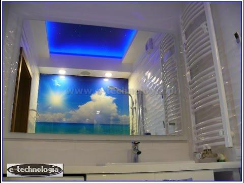 Oświetlenie sufitu łazienki e-technologia