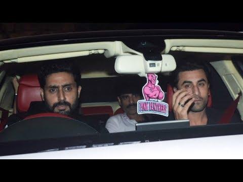 Abhishek Bachchan , Aishwarya Rai & Ranbir Kapoor Attends Karan Johar's Christmas Party