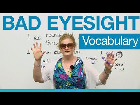 (videó) Ingyen angol szókincsbővítés online - a szemésznél, optikusnál