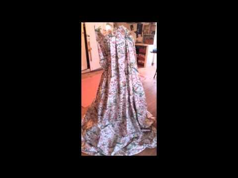 fabrication de la robe robe 18e de ma marquise