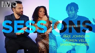 "Shameik Moore, Jake Johnson and Lauren Velez talked about ""Into The Spider-Verse""