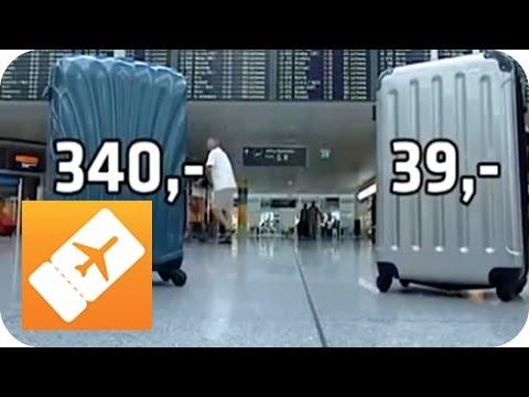Koffertest: Teuer vs. Billig | Der richtige Koffer