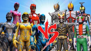 Power Rangers 2017(Black,Blue,Red,Pink,Yellow) vs Kamen Riders(Kuuga,Delta,Dark Kabuto,V3,Rider 555) - LEGENDARY EPIC BATTLEGet 5 euro discount https://www.computeruniverse.net Use Promo cod: FWO7G8KThe battle between Power Rangers 2017(Black,Blue,Red,Pink,Yellow) vs Kamen Riders(Kuuga,Delta,Dark Kabuto,V3,Rider 555) -  takes place in Grand Theft Auto VBUY CHEAP GAMES HERE: https://www.g2a.com/?reflink=gamesins◙◙ Kamen Rider (仮面ライダー Kamen Raidā, Masked Rider) is a tokusatsu superhero television series and weekly science fiction manga created by manga artist Shotaro Ishinomori.©◙◙ Saban's Power Rangers[4] (or simply Power Rangers) is a 2017 American superhero film based on the team of the same name, directed by Dean Israelite and written by John Gatins. It is the third of the Power Rangers film, and is a reboot. ©All mods are available at♦♦ https://www.gta5-mods.com/Script by JulioNIB:♦♦ http://gtaxscripting.blogspot.com/♦♦ Credits: hykle,Meszii,RX1StrideR,azminzainal25♫ ♪ ♫ - Muzic: http://www.epidemicsound.com/More videos:OPTIMUS PRIME VS DRIFT VS BUMBLEBEE - EPIC TRANSFORMERS BATTLE (AUTOBOTS DEATH BATTLE) https://www.youtube.com/watch?v=rBH99_TR-1kOPTIMUS PRIME & BUMBLEBEE VS STINGER & LOCKDOWN (TRANSFORMERS) EPIC BATTLE https://www.youtube.com/edit?video_id=ceectNzR_iUIRON MAN vs OPTIMUS PRIME (TRANSFORMERS) EPIC BATTLE https://www.youtube.com/watch?v=86d-Q...OPTIMUS PRIME vs HULKBUSTER - EPIC BATTLE (TRANSFORMERS vs MARVEL SUPERHEROES) https://www.youtube.com/watch?v=jFhU_...HULK VS VENOM - EPIC BATTLEhttps://www.youtube.com/watch?v=V-DM9X6mrVQOPTIMUS PRIME vs AVENGERS - EPIC BATTLE (AUTOBOT vs MARVEL SUPERHEROES) https://www.youtube.com/watch?v=0RFEXVGCB0gOPTIMUS PRIME & BUMBLEBEE & DRIFT VS LOCKDOWN & STINGER - EPIC BATTLE (TRANSFORMERS DEATHMATCH)https://www.youtube.com/edit?o=U&video_id=9G_G5VZT33gPlaylists:TRANSFORMERS:https://www.youtube.com/watch?v=ceectNzR_iU&list=PLn9tQeUktbkV64gXvoBEdVR0o1eZi_7xcEpic Battles:https://www.youtube.com/playlist?list=PLn9t