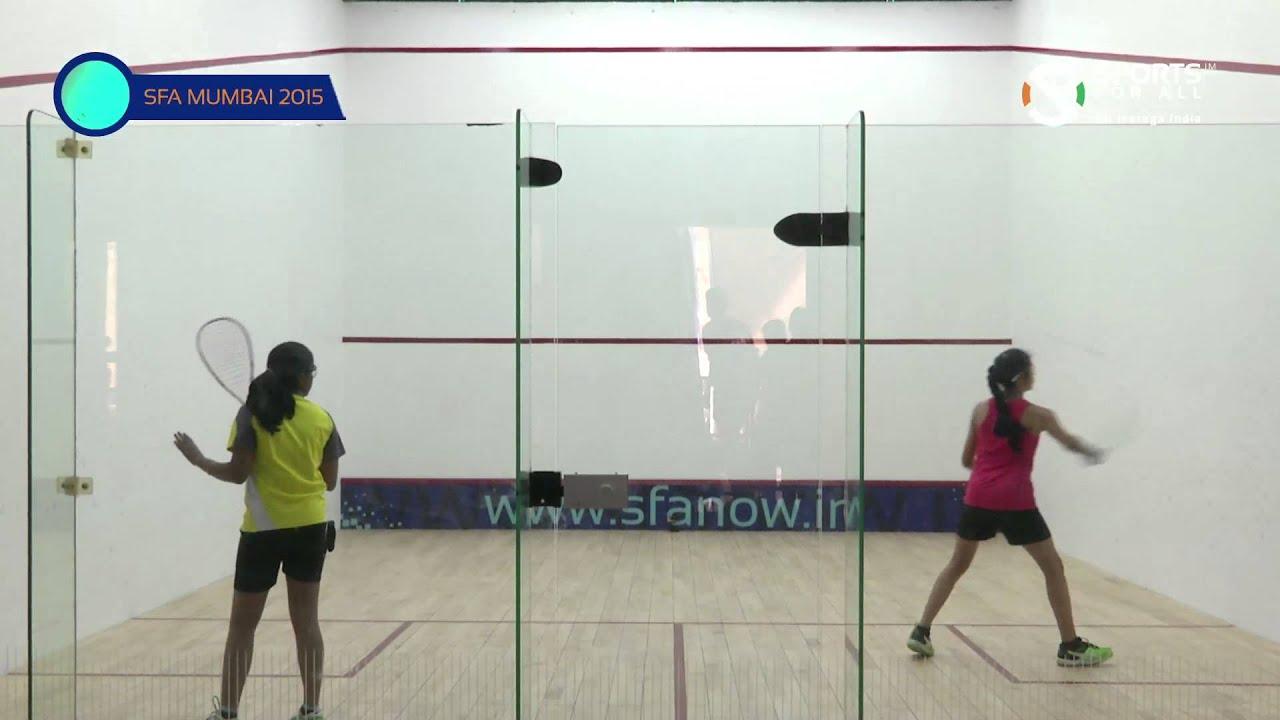 SFA Mumbai 2015 | Squash | Aishwarya Khubchandani Vs Kaur Avneet | U13 | Girls | S/F