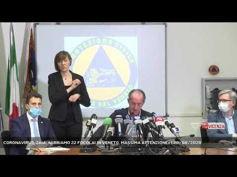 CORONAVIRUS, ZAIA: «ABBIAMO 22 FOCOLAI IN VENETO, MASSIMA ATTENZIONE» | 29/06/2020