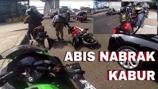 Video R15 CRASH!!! Morning Ride Ter-gabut, Master Wheelie Beraksi #motovlog Indonesia MP3, 3GP, MP4, WEBM, AVI, FLV Oktober 2018