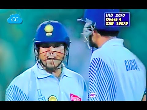 Download Sachin Super Angry on Henry Olonga Want to Smash Every ball  -  Never Seen Before HD Mp4 3GP Video and MP3