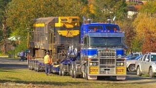Video Trucks, Trains, and Cranes : SMC Heavy Haulage Moving T Class Loco MP3, 3GP, MP4, WEBM, AVI, FLV Juni 2019
