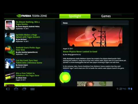 Video of NVIDIA TegraZone 2