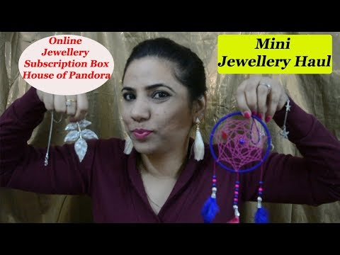 My Mini Jewellery Online Haul | House of Pandora | Rs 300 | Silver jewellery | SurSweeet