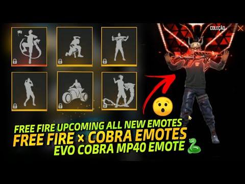 Free Fire Cobra Event All Emotes 🐍    Upcoming New Emotes In Free Fire    Evo Cobra MP40 EMOTE 😯