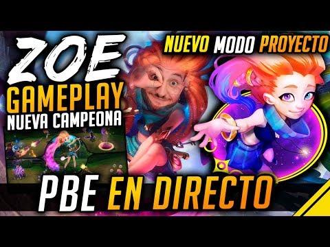 ZOE GAMEPLAY - Nuevo MODO PROYECTO SOBRECARGA - PBE en DIRECTO | Noticias LoL