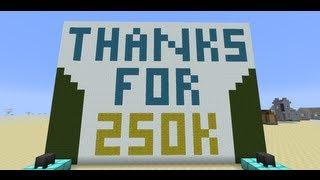 A Minecraft Magic Trick--SethBling's Quarter Million Subscriber Special
