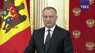 Пресс-конференция по итогам переговоров Путина и Додона