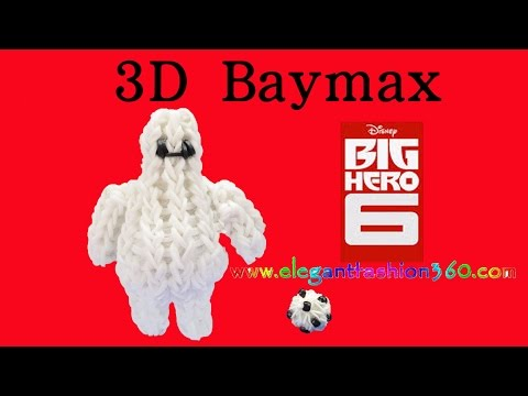 Rainbow loom Big Hero 6 Baymax 3D Charm/Figurine – How to Loom Bands