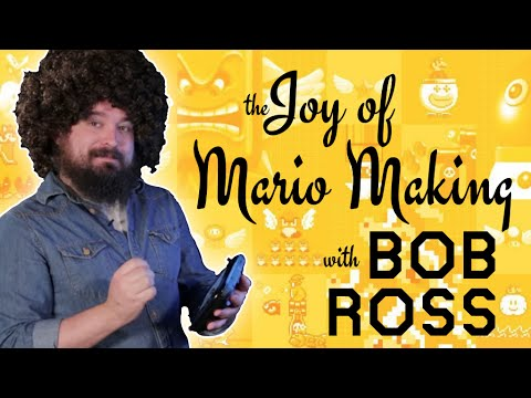 Bob Ross Makes A Super Mario Level