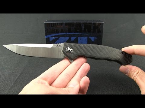 "Zero Tolerance 0452CF Flipper Knife Carbon Fiber (4.1"" Satin) ZT"
