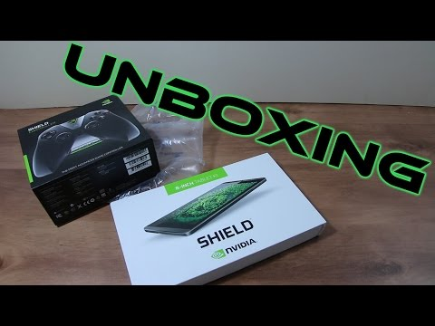 Unboxing Nvidia SHIELD Tablet K1 and SHIELD Game Controller