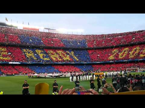 FC Barcelona Vs FC Bayern Munich 2015 (Champions League Semi-final Himno,Anthem)