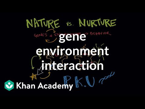 interaction of nature and nurture