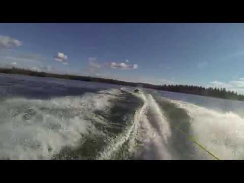 Speedboat tube fun in B.C. Canada (Green Lake)
