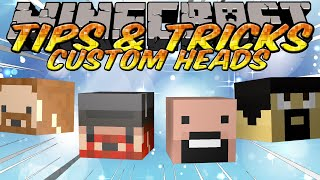 Minecraft Tips and Tricks - Custom Player Heads using NBT Edit and Head Drop Mod