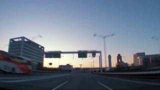 (HD) Morning drive in Tokyo 11 -早朝の首都高湾岸線(西行き編)-