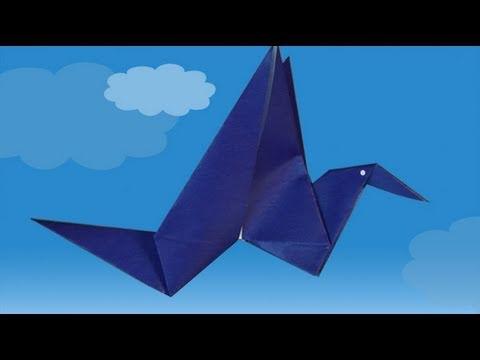 Origami - L'oiseau qui bat des ailes