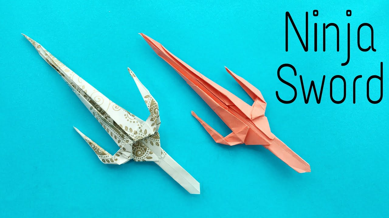 How To Make A Paper Ninja Sword Weapon Origami Tutorial