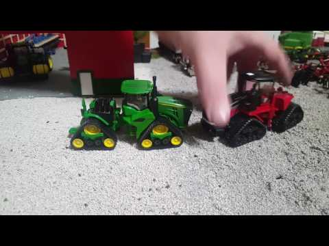 1/64 comparison John deere 570rx quad track vs case IH 620 quad track.