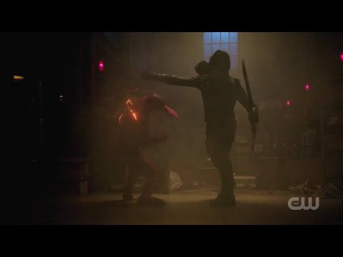 Arrow [7x9] Barry Vs Oliver