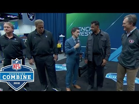 Video: Raiders & 49ers Coin Toss to Determine 9th Overall Pick in 2018 Draft | NFL Combine