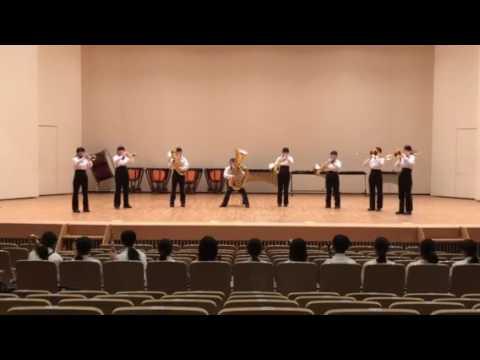臼田中吹奏楽部 H29アンサンブル 金管八