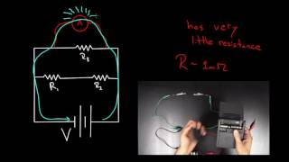 Voltmeters and Ammeters | Circuits | Physics | Khan Academy