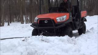 1. UTV Hitchworks - Kubota RTV-X900 with the SnowMax Snowplow