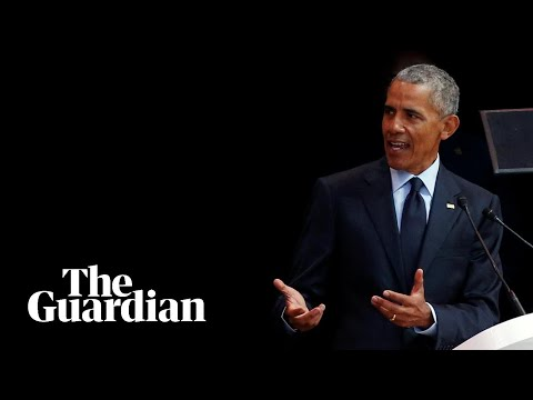 'Strongman politics are ascendant suddenly': Key moments from Obama's Mandela lecture
