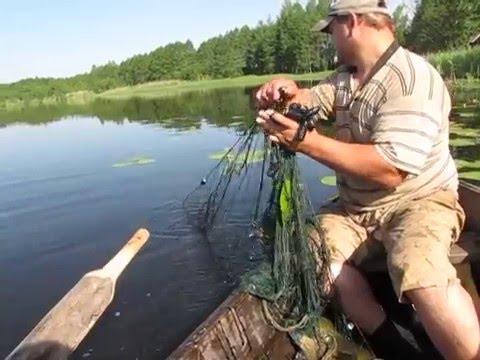 ловля карася весной сетью видео