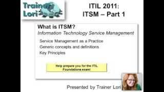 ITIL ITSM Part 1