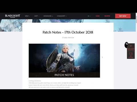 [BDO] Patch Notes - Halloween Events And A Tamer Buff 17.10.18